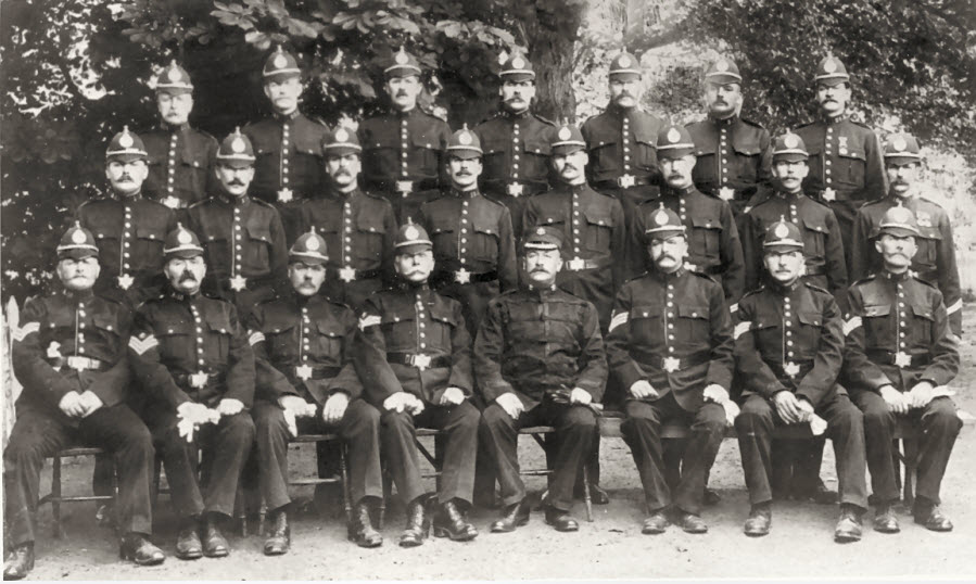 A group photo of the Cardiganshire Constabulary probably in the early 1900's