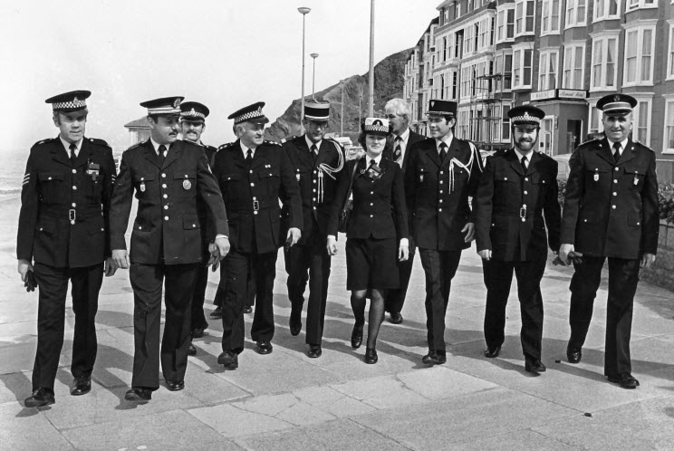 Police Municipal and Gendarmerie who paid a visit to Aberystwyth in the mid 1970's